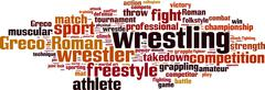 Wrestling word cloud Piirros