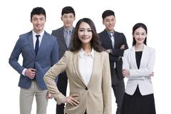 Group of successful business people Stock Photos