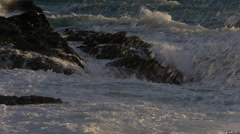 Waves on the rocks Stock Footage