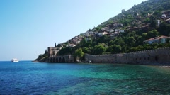 Panoramic View At Alanya Bay Resort - stock footage