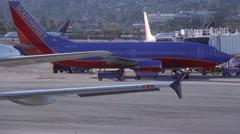 Aircrafts runway traffic airport San Francisco - 1080p Stock Footage