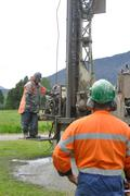 Drilling for water Stock Photos