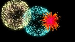 Fireworks alpha Stock Footage