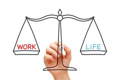 work life balance scale concept - stock photo
