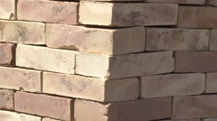 Collection set of red brick Stock Footage