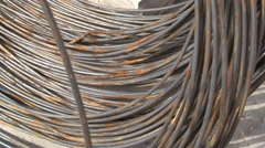 Rusty steel building armature - stock footage