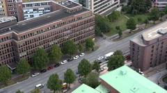 Hamburg aerial view Stock Footage