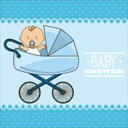 Stock Illustration of baby shower design, vector illustration eps10 graphic