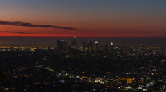 LA Cityscape Sunrise Timelapse 01 UHD 4K Stock Footage