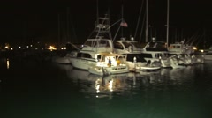 POV Night Shot from a Boat Cruise 2 Stock Footage