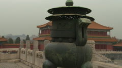 Sundial in Forbidden City Stock Footage