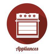 Stock Illustration of appliance icon design, vector illustration eps10 graphic