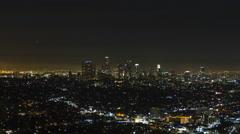 LA Cityscape Night Timelapse 01 UHD 4K Stock Footage