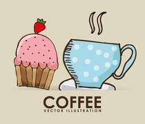 coffee cup design, vector illustration eps10 graphic - stock illustration