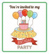 happy birthday design, vector illustration eps10 graphic - stock illustration