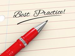 3d pen on paper - best practice - stock illustration
