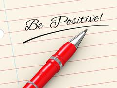 3d pen on paper - be positive Piirros