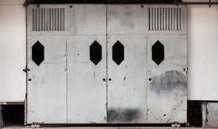 Old sliding door Stock Photos