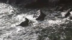 Kohala, Hawaii waves come ashore Stock Footage