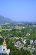 top view of non-urban landscape in thailand - stock photo