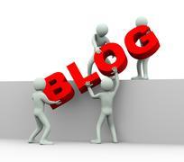 3d people - concept of blogging Stock Illustration