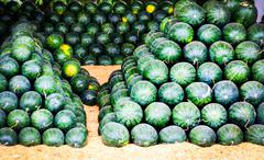 group of water melon for sale - stock photo