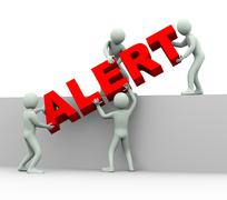3d people - concept of alert Stock Illustration