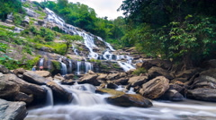 MAEYA Waterfall Famous Cascade Of Chiangmai, Thailand Stock Footage