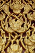 Wood carving about thai fine art background Stock Photos