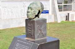 dr. kwame nkrumah bust - accra, ghana - stock photo