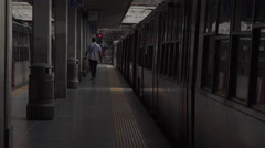 Naples Italy train station passenger walking 4K 015 Stock Footage
