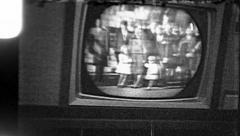 FAMILY President Kennedy Assassination TV 1960s Vintage Film Home Movie 8138 Stock Footage