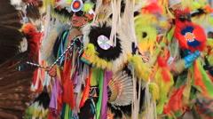 Pow Wow Grand Entry Lakota Stock Footage