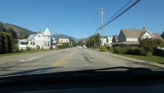 Driving through Revelstoke, BC. Stock Footage
