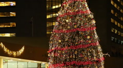 Chirstmas Tree at Nathan Phillips Square Stock Footage