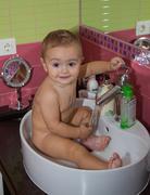 Pretty little baby boy Stock Photos