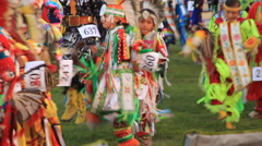 Tiny Tots grand entry at the Pow Wow Stock Footage