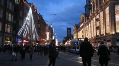Christmas in Amsterdam Stock Footage