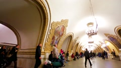 View of Kievskaya subway station. Stock Footage