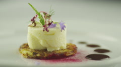 White Caviar Dish in Luxury Restaurant Stock Footage