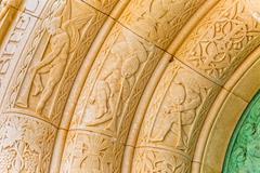 mausoleum petrinovic arcade detail - stock photo