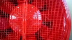 Big construction fan, red fan Stock Footage