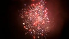 Red White Blue Gold Fireworks Slow Motion - 29,97FPS NTSC - stock footage