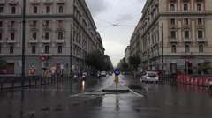 Naples Italy urban city center rain storm establishing 4K 078 Stock Footage