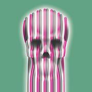 skull art - stock illustration