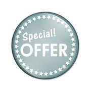 special offer button - stock illustration