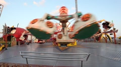 Carousel at the Dubai Global Village Stock Footage