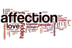 Stock Illustration of affection word cloud