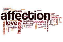 Affection word cloud Stock Illustration