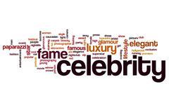 Celebrity word cloud Stock Illustration